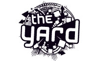 The yard logo b/w